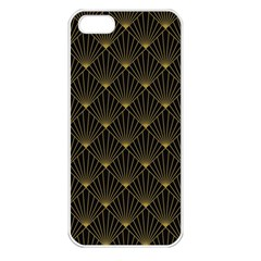 Abstract Stripes Pattern Apple iPhone 5 Seamless Case (White)