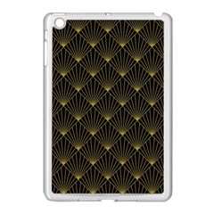 Abstract Stripes Pattern Apple iPad Mini Case (White)