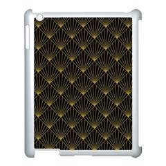 Abstract Stripes Pattern Apple iPad 3/4 Case (White)