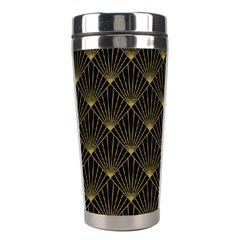 Abstract Stripes Pattern Stainless Steel Travel Tumblers