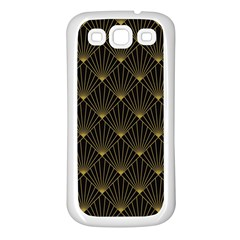Abstract Stripes Pattern Samsung Galaxy S3 Back Case (White)