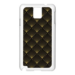 Abstract Stripes Pattern Samsung Galaxy Note 3 N9005 Case (White)