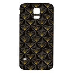 Abstract Stripes Pattern Samsung Galaxy S5 Back Case (white)