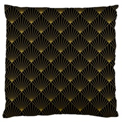 Abstract Stripes Pattern Large Flano Cushion Case (One Side)