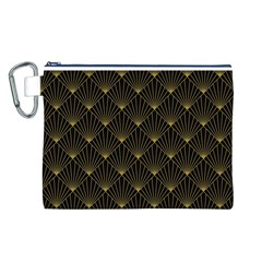 Abstract Stripes Pattern Canvas Cosmetic Bag (L)