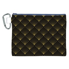Abstract Stripes Pattern Canvas Cosmetic Bag (XXL)
