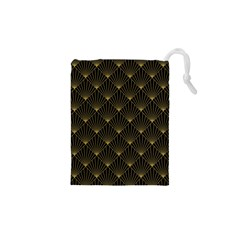 Abstract Stripes Pattern Drawstring Pouches (XS)