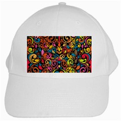 Art Traditional Pattern White Cap