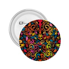 Art Traditional Pattern 2.25  Buttons