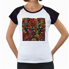 Art Traditional Pattern Women s Cap Sleeve T
