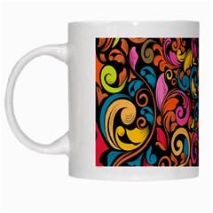 Art Traditional Pattern White Mugs