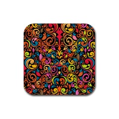 Art Traditional Pattern Rubber Coaster (Square)