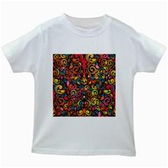 Art Traditional Pattern Kids White T-Shirts