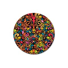 Art Traditional Pattern Magnet 3  (Round)