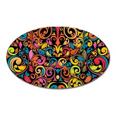 Art Traditional Pattern Oval Magnet