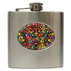 Art Traditional Pattern Hip Flask (6 oz)