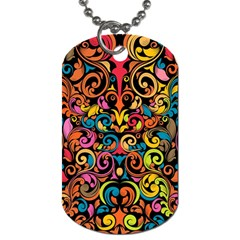 Art Traditional Pattern Dog Tag (Two Sides)