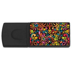 Art Traditional Pattern USB Flash Drive Rectangular (2 GB)