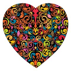 Art Traditional Pattern Jigsaw Puzzle (Heart)