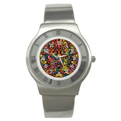 Art Traditional Pattern Stainless Steel Watch