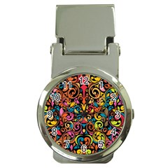 Art Traditional Pattern Money Clip Watches