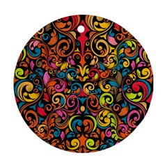 Art Traditional Pattern Round Ornament (Two Sides)
