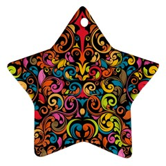 Art Traditional Pattern Star Ornament (Two Sides)