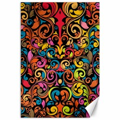Art Traditional Pattern Canvas 12  x 18