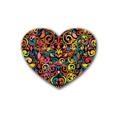 Art Traditional Pattern Heart Coaster (4 pack)