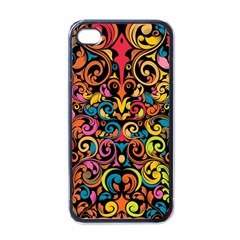 Art Traditional Pattern Apple iPhone 4 Case (Black)