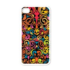 Art Traditional Pattern Apple iPhone 4 Case (White)