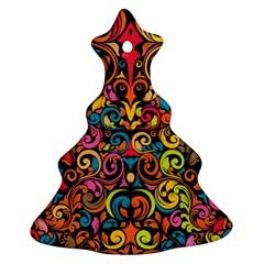 Art Traditional Pattern Ornament (Christmas Tree)