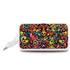 Art Traditional Pattern Portable Speaker (White)
