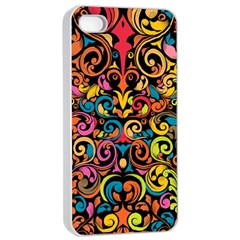 Art Traditional Pattern Apple iPhone 4/4s Seamless Case (White)