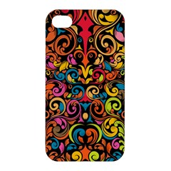 Art Traditional Pattern Apple iPhone 4/4S Premium Hardshell Case