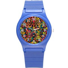 Art Traditional Pattern Round Plastic Sport Watch (S)