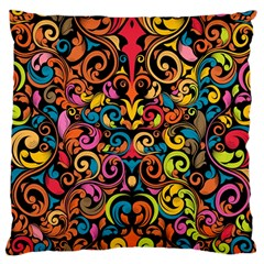 Art Traditional Pattern Large Cushion Case (One Side)