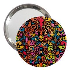 Art Traditional Pattern 3  Handbag Mirrors