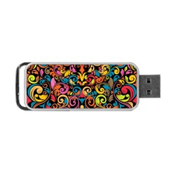 Art Traditional Pattern Portable USB Flash (One Side)