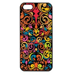 Art Traditional Pattern Apple iPhone 5 Seamless Case (Black)