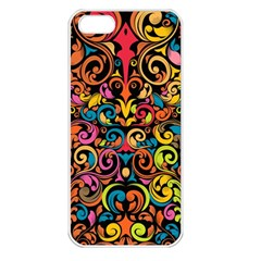 Art Traditional Pattern Apple iPhone 5 Seamless Case (White)