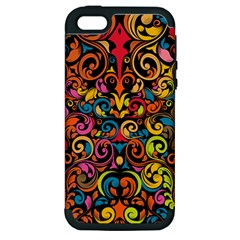 Art Traditional Pattern Apple Iphone 5 Hardshell Case (pc+silicone)