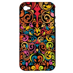 Art Traditional Pattern Apple iPhone 4/4S Hardshell Case (PC+Silicone)