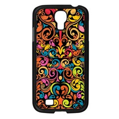 Art Traditional Pattern Samsung Galaxy S4 I9500/ I9505 Case (Black)