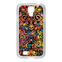 Art Traditional Pattern Samsung GALAXY S4 I9500/ I9505 Case (White)