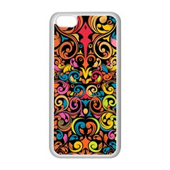 Art Traditional Pattern Apple iPhone 5C Seamless Case (White)