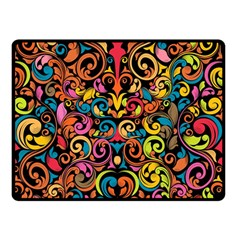 Art Traditional Pattern Double Sided Fleece Blanket (Small)