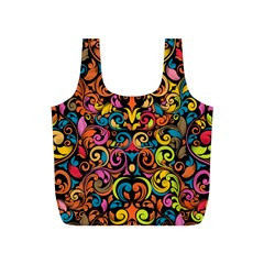 Art Traditional Pattern Full Print Recycle Bags (S)