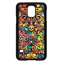 Art Traditional Pattern Samsung Galaxy S5 Case (Black)