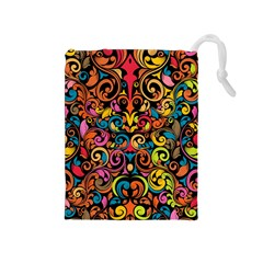 Art Traditional Pattern Drawstring Pouches (Medium)